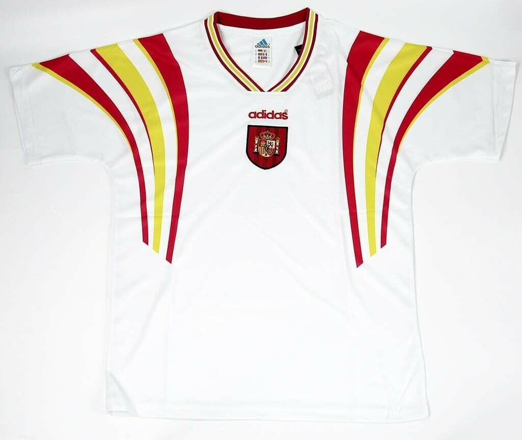SPAIN AWAY EURO 1996 MAGLIA TRASFERTA 96 EUROPEI