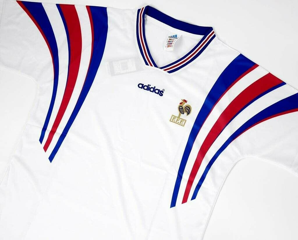 FRANCE AWAY EURO 1996 MAGLIA TRASFERTA 96