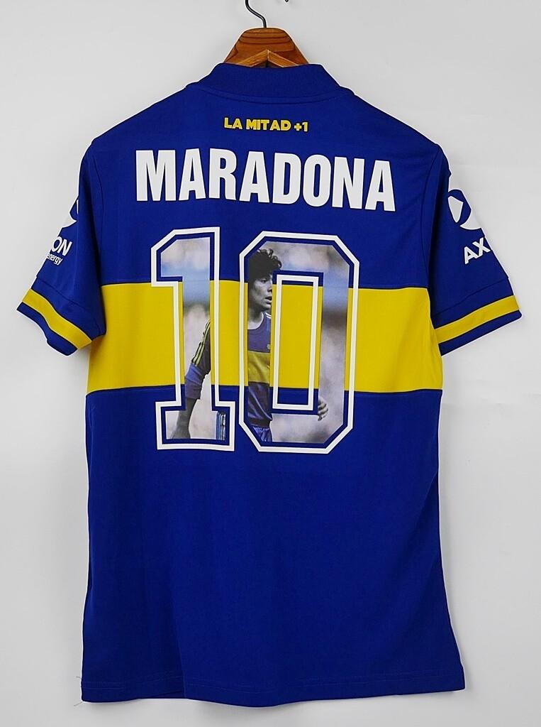 DIEGO ARMANDO  MARADONA MAGLIA CASA BOCA JUNIORS HOME 2020 2021 FOTO MARADONA NUMERO