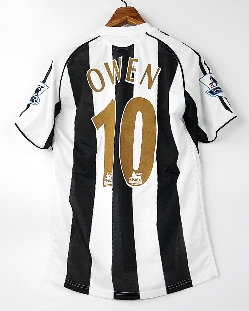 10 OWEN NEWCASTLE HOME 2005 2006 MAGLIA CASA JERSEY HOME 2005 2006 NEWCASTLE