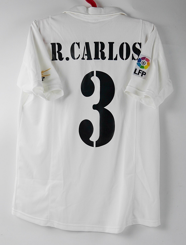 ROBERTO CARLOS 3 REAL MADRID MAGLIA CASA JERSEY HOME MAGLIA CENTENARIO CENTENARY JERSEY REAL MADRID