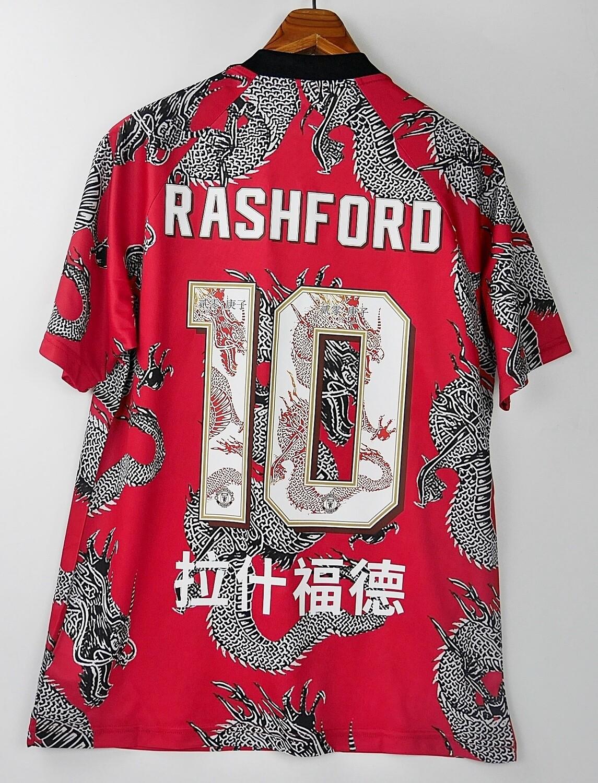 10 RASHFORD MAN UTD CHINESE NEW YEAR DRAGON 2019-2020 MAGLIA SPECIALE HAPPY NEW YEAR