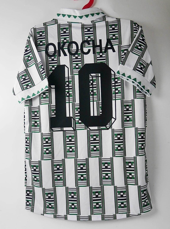 10 OKOCHA NIGERIA AWAY WORLD CUP 1994 MAGLIA TRASFERTA JERSEY AWAY MONDIALI 1994