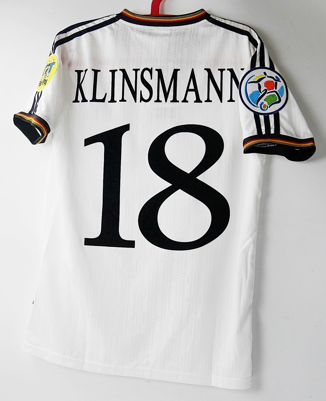 18 KLINSMANN GERMANY HOME 1996 WINNER  MAGLIA GERMANIA EUROPEI 1996