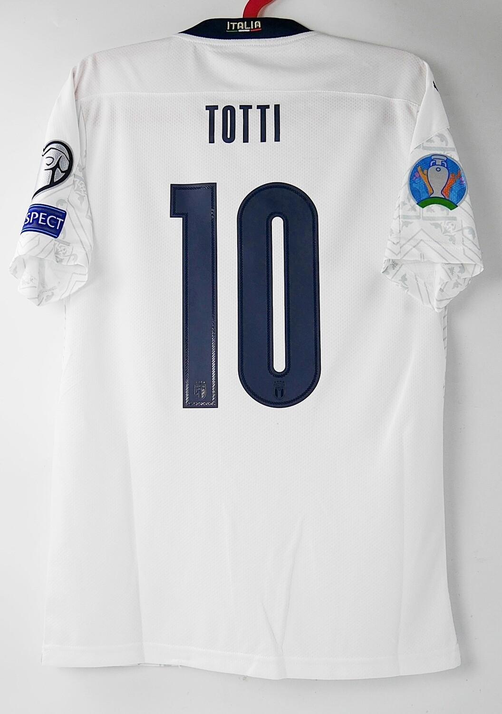 10 TOTTI ITALY AWAY WHITE 2020 MAGLIA TRASFERTA 2020 2021 FRANCESCO TOTTI 10