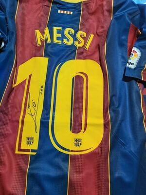 Maglia Barcelona Maglia Casa 2020 2021  Lionel Messi Autografata Signed wich COA certificate Barcelona Jersey Home 2020 2021 Lionel Messi Signed with coa