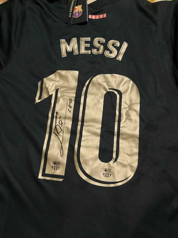 Maglia Barcelona Maglia 2020 2021  Lionel Messi Autografata Signed wich COA certificate Barcelona Jersey 2020 2021 Lionel Messi Signed with coa