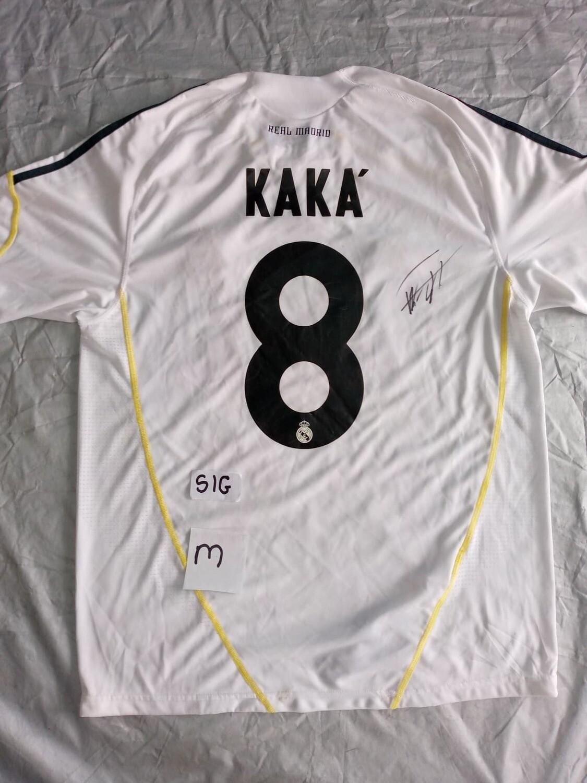 REAL MADRID MAGLIA CASA JERSEY HOME SIGNED AUTOGRAPH COA  Ricardo Kakà 8 SportWorldSigned COA certificate of authenticity Certificato coa di autenticita' SPORTWORLDSIGNED KAKA 8  AUTOGRAFO