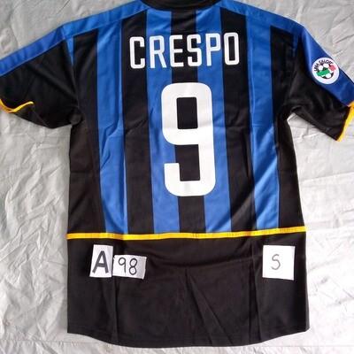 A98 INTER MAGLIA CASA JERSEY HOME CRESPO 9  TAGLIA S SIZE S