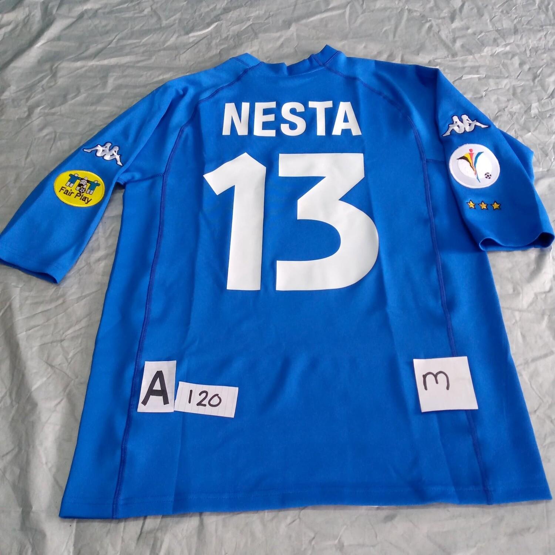 A120 ITALIA ITALY EURO 2000 NESTA 13 TAGLIA M SIZE M  MAGLIA CASA JERSEY HOME ITALIA