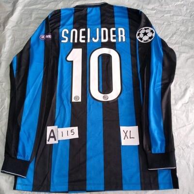 A115 INTER MAGLIA CASA FINALE CHAMPIONS 2010 INTER FINAL MADRID 2010 JERSEY HOME SNEJDER 10  TAGLIA XL SIZE XL