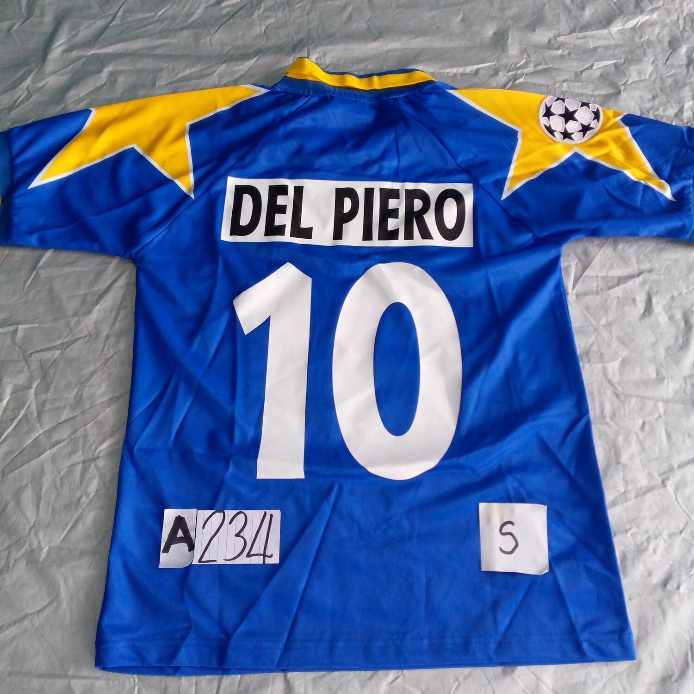 A234  JUVENTUS MAGLIA FINALE CHAMPIONS 1996 DEL PERO 10 MAGLIA COPPA FINALE JERSEY AWAY FINAL DEL PIERO TAGLIA S SIZE S