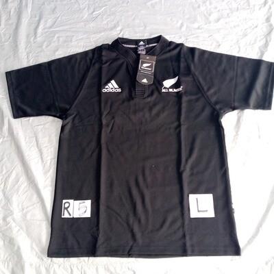 R5 Retro All Blacks RUGBY Maglia Jersey Shirt Rugby  ALL BLACKS TAGLIA L SIZE L