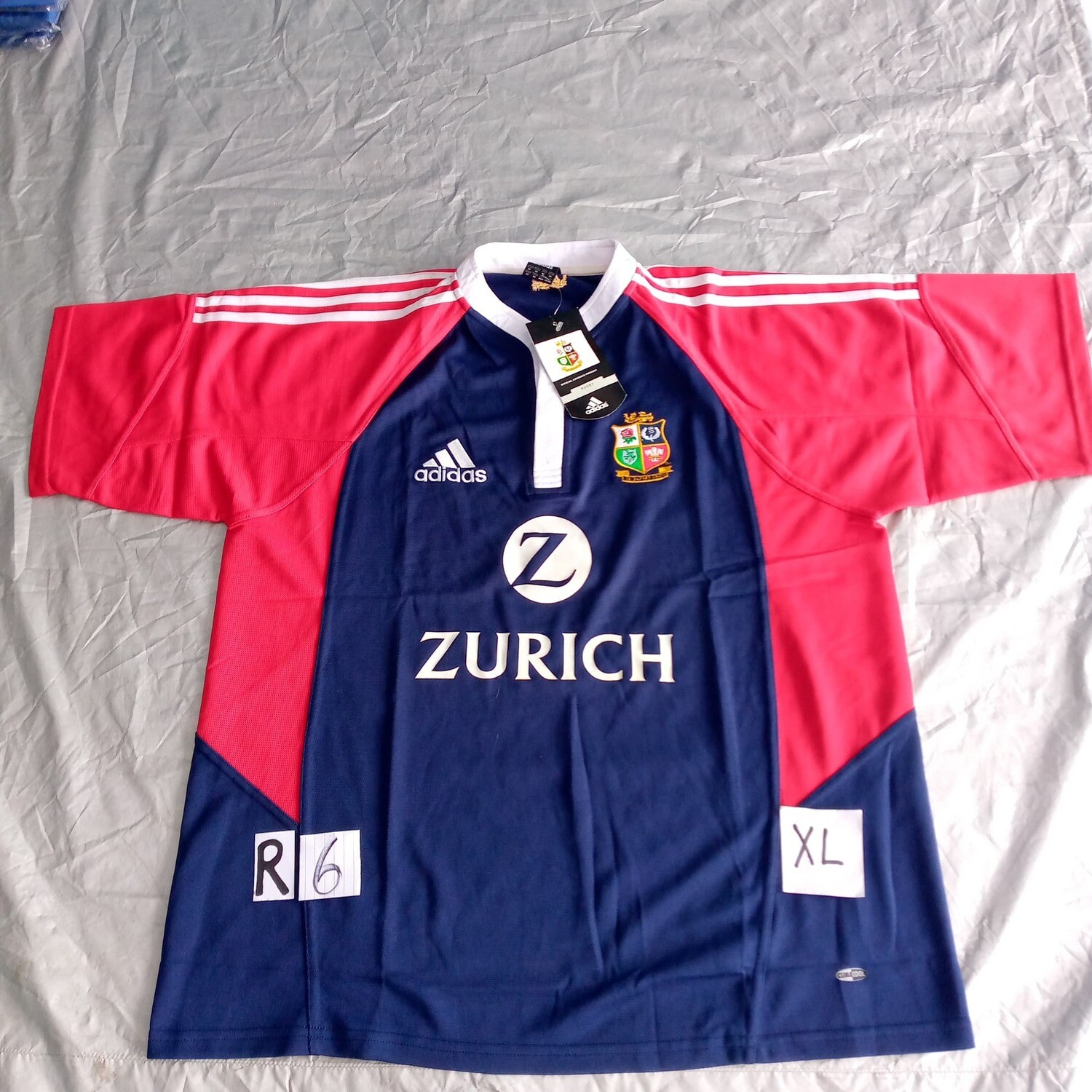 R6 New Zealand 2005 Tour Rugby Maglia Jersey Shirt Rugby 2005 NEW ZELAND XL