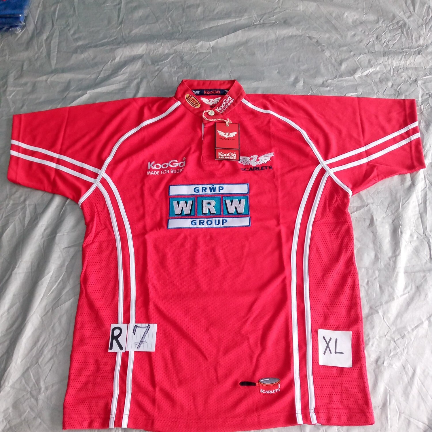 R7 Scarlets Rugby Maglia Jersey Shirt Rugby Scarlets XL