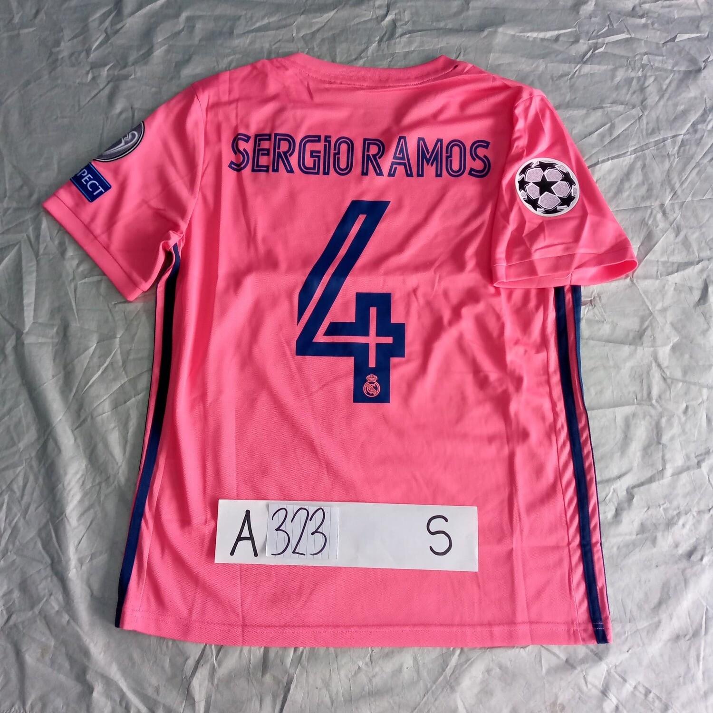 A323  REAL MADRID MAGLIA TRASFERTA JERSEY AWAY SERGIO RAMOS 4 TAGLIA S SIZE S