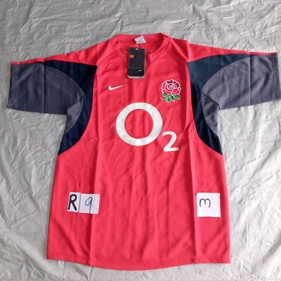 R9 England Rugby Maglia Jersey Shirt Rugby INGHILTERRA TAGLIA M SIZE M