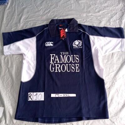 R10 SCOZIA Rugby Maglia Jersey Shirt Rugby SCOTLAND  TAGLIA XXL SIZE XXL