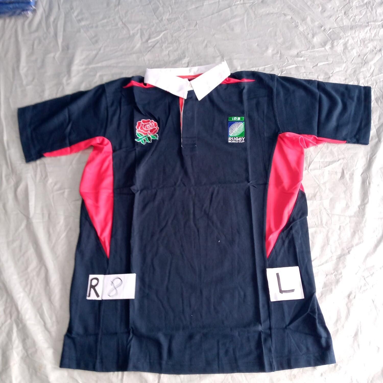 R8 England Rugby Maglia Jersey Shirt Rugby INGHILTERRA TAGLIA L SIZE L