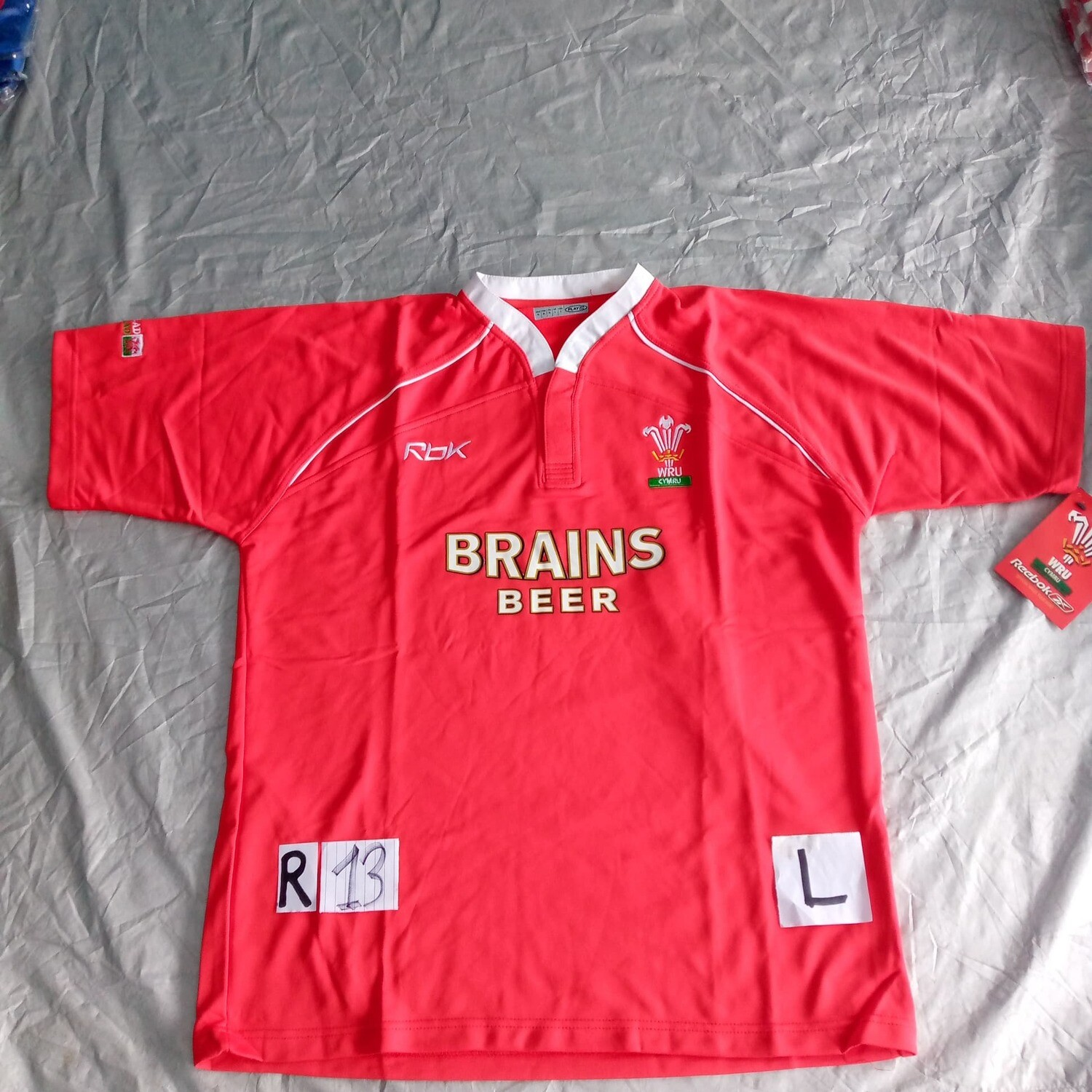 R13 GALLES Rugby Maglia Jersey Shirt Rugby WALES  TAGLIA L SIZE L
