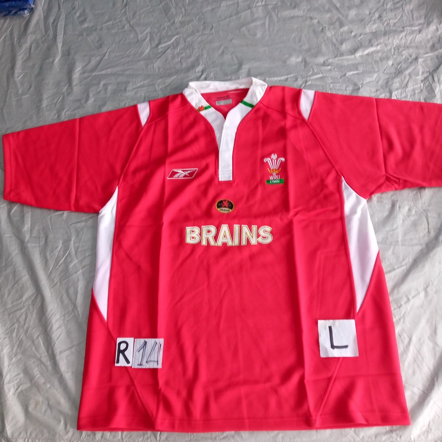R14 GALLES Rugby Maglia Jersey Shirt Rugby WALES  TAGLIA L SIZE L