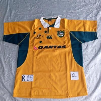 R15 AUSTRALIA Rugby Maglia Jersey Shirt Rugby AUSTRALIA TAGLIA XL SIZE XL