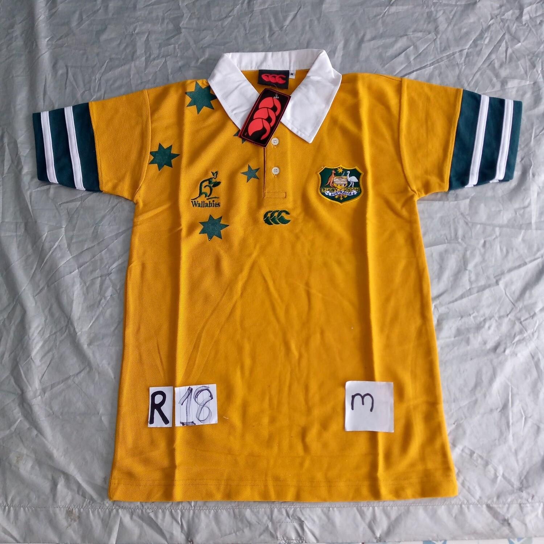 R18 AUSTRALIA Rugby Maglia Jersey Shirt Rugby AUSTRALIA TAGLIA M SIZE M