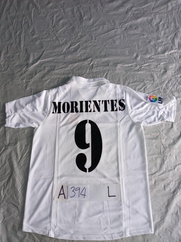 394  REAL MADRID MAGLIA CASA JERSEY HOME LUIS MORIENTES 9 TAGLIA L SIZE L