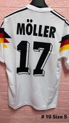 B19 GERMANIA GERMANY MAGLIA CASA JERSEY HOME MULLER 17 TAGLIA S SIZE S