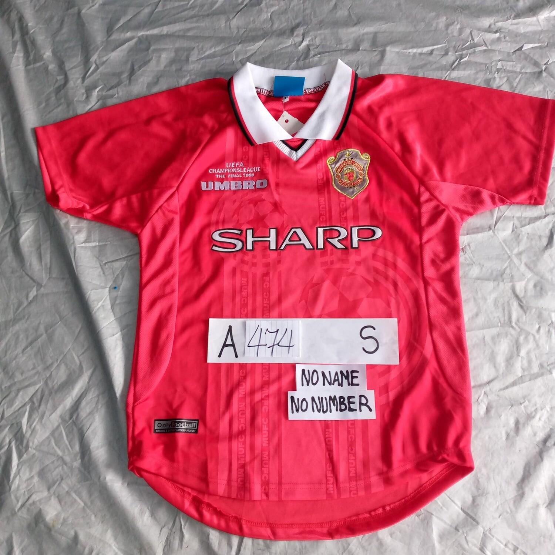 A474 MANCHESTER UNITED MAGLIA FINALE CHAMPIONS 1999 JERSEY FINAL SIZE S TAGLIA S