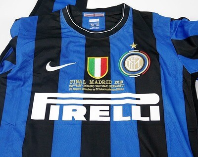 INTER FINALE MADRID 2010 JERSEY FINAL CHAMPIONS MANICHE LUNGHE LONG SLEEVES