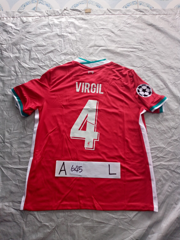 645 LIVERPOOL MAGLIA CASA JERSEY HOME VIRGIL 4  TAGLIA L SIZE L