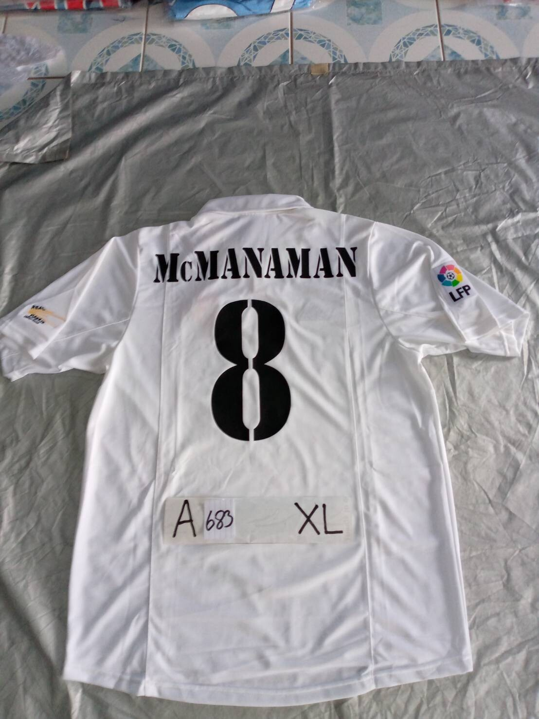 683  REAL MADRID MAGLIA CASA JERSEY HOME MCMANAMAN 8 TAGLIA XL SIZE XL