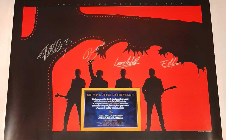ALBUM TOUR LITOGRAPH TOUR   U2 Autografo U2 GRUPPO ALBUM LITOGRAPH U2  Autografato  Signed Autograph Hand Signed ALBUM LITOGRAPH