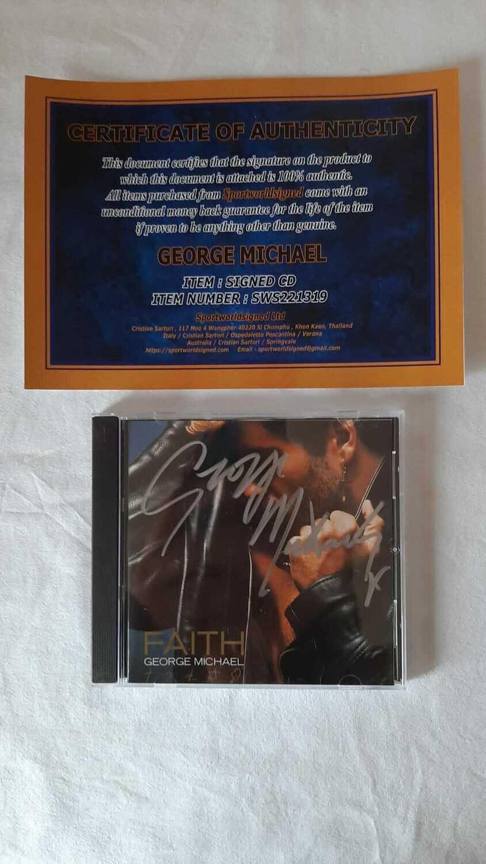 CD Faith  George Michael Autografo Faith  George Michael CD Autografato CD Signed Autograph Hand Signed CD Faith  George Michael