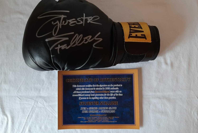 Guanto Rocky  Sylvester Stallone Autografato Signed Sylvester Stallone ROCKY Glove Hand Signed Autografo Sylvester Stallone GLove