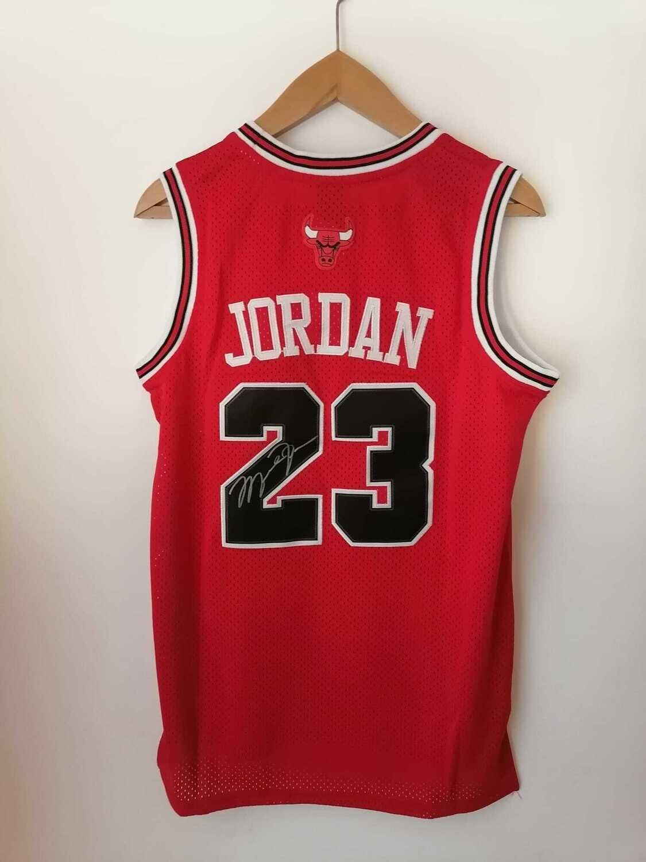 Maglia Michael Jordan 23 Chicago Bullss Autografata Signed Michael Jordan 23 MJ 23 Signed Autograph HAnd Signed NBA JORDAN 23