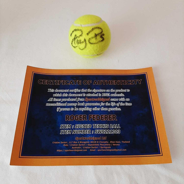 Pallina  Roger Federer Autografata BALL Signed ROGER FEDERER Signed Autograph BALL HAnd Signed Tennis ROGER FEDERER