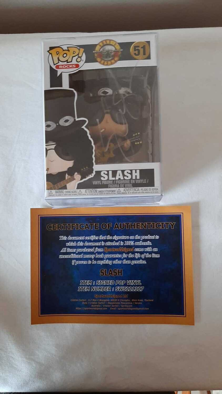 Pop Vynil Rock  AUTOGRAFATO Autografo SLASH POP VYNIL FIGURE Guns Roses  Signed SLASH POP VYNIL FIGURE Guns Roses Signed Autograph Hand Signed SLASH POP VYNIL FIGURE Guns Roses Slash Guns N' Rose