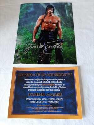 Sylvester Stallone Rambo Foto Autografata Sylvester Stallone RAMBO Signed Autograph Hand Signed Sylvester Stallone RAMBO
