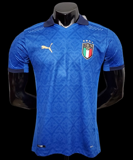 ITALIA ITALY MAGLIA CASA JERSEY HOME EUROPEI 2021 VERSION PLAYER VERSION PLAYER GIOCATORI