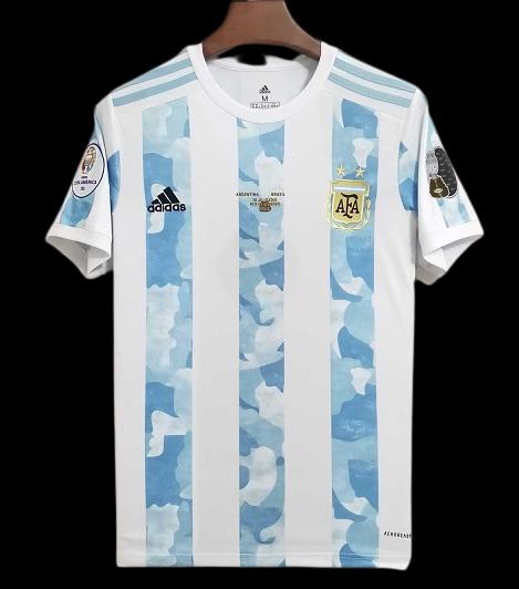 ARGENTINA MAGLIA CASA JERSEY HOME COPA AMERICA 2021 VS BRAZIL FINAL COPA AMERICA VERSION FAN