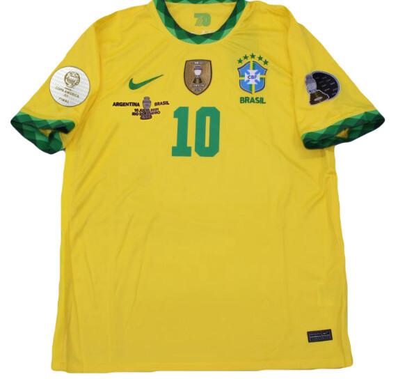 BRASILE  MAGLIA CASA JERSEY HOME COPA AMERICA 2021 VS ARGENTINA FINAL COPA AMERICA VERSION FAN BRAZIL VS ARGENTINA COPA AMERICA 2021