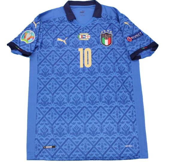 ITALIA ITALY MAGLIA CASA JERSEY HOME FINALE EUROPEI 2021 VS INGHILTERRA VERSION PLAYER VERSION PLAYER  EURO FINAL EURO 2021 VS ENGLAND