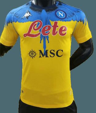 NAPOLI  MAGLIA TRASFERTA JERSEY AWAY  2021 2022 VERSIONE PLAYER VERSION PLAYER MATCH