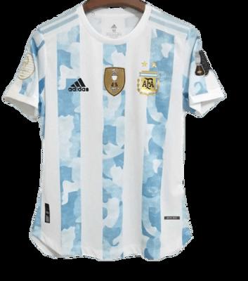 ARGENTINA MAGLIA CASA JERSEY HOME COPA AMERICA 2021 VS BRAZIL FINAL COPA AMERICA CHAMPIONS PATCH