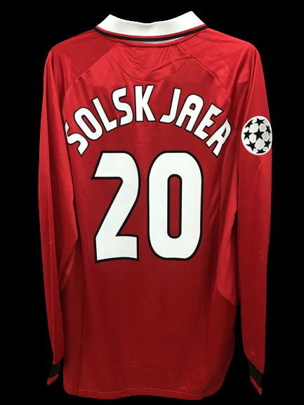 MANCHESTER UNITED MAGLIA CASA JERSEY HOME LONG SLEEVES VERSION PLAYER SOLKSJEAR 20