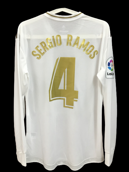 REAL MADRID MAGLIA JERSEY REAL SERGIO RAMOS 4 PLAYER VERSION MATCH VERSION WORN ISSUE