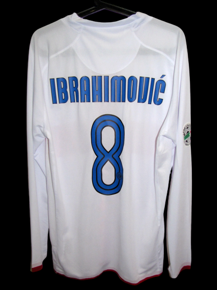 INTER CENTENARIO MAGLIA CENTENARY JERSEY MANICHE LUNGHE LONG SLEEVES IBRAHIMOVIC 8 VERSION PLAYER