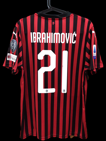 MILAN MAGLIA CASA JERSEY HOME IBRAHIMOVIC 21 VERSIONE MATCH VERSION PLAYER WORN ISSUE